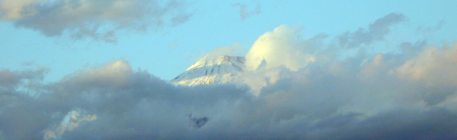 Soleil levant sur Fuji