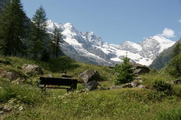Glaciers on the Gran Paradiso