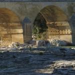 sous le pont, Pont du Gard