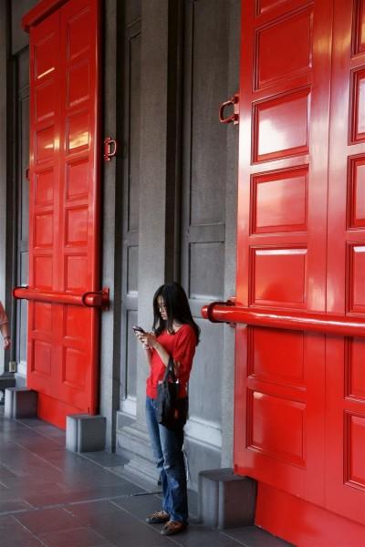 les portes rouges