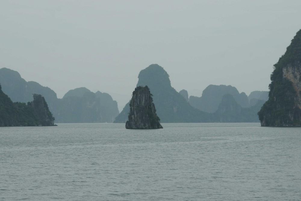 Halong Bay monochrome