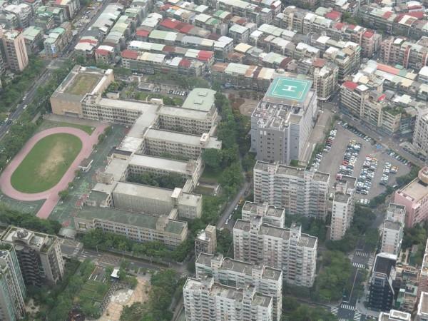 view from Taipei 101 viewing platform