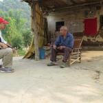 talking to the farmer