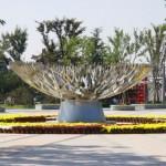 a floral sculpture