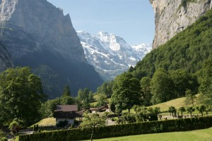 Lauterbrunnen valley and the Jungfrau