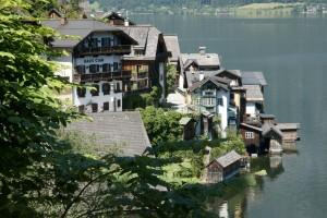 lakeside houses in Hallstatt