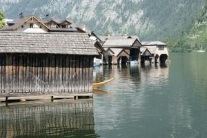 Boathouses on Hallstättersee