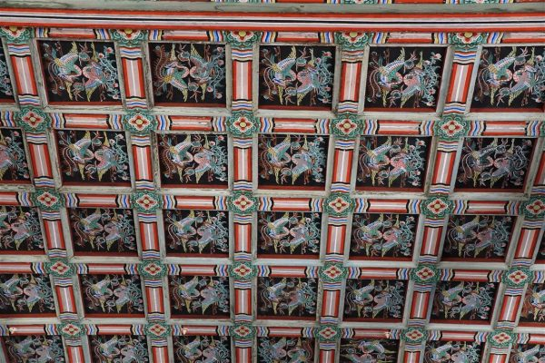 pavillion ceiling, Changdeok-gung palace, Seoul