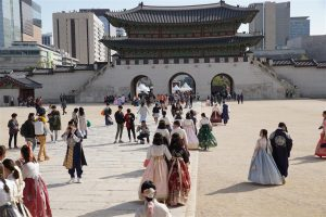 Gyeongbokgung palace, main courtyard, Seoul