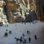 emerging from the siq