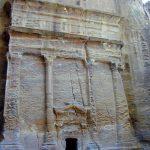 stone facades in Petra
