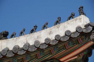 dragon spine imperial roof ridge, Gyeongbokgung